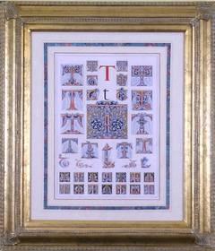 "Initial Letter ""T""  (Alphabet)"