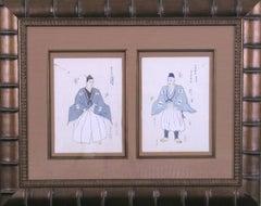 Blue and White Kimonos