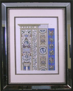 Raphael's Loggia  Plate X.  Pilaster Top  Priced as a pair with Pilaster  Bottom