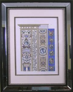 Raphael's Loggia (Pair).  Plate X.  Pilaster Top