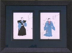 Kimono Designs in Black and Blue