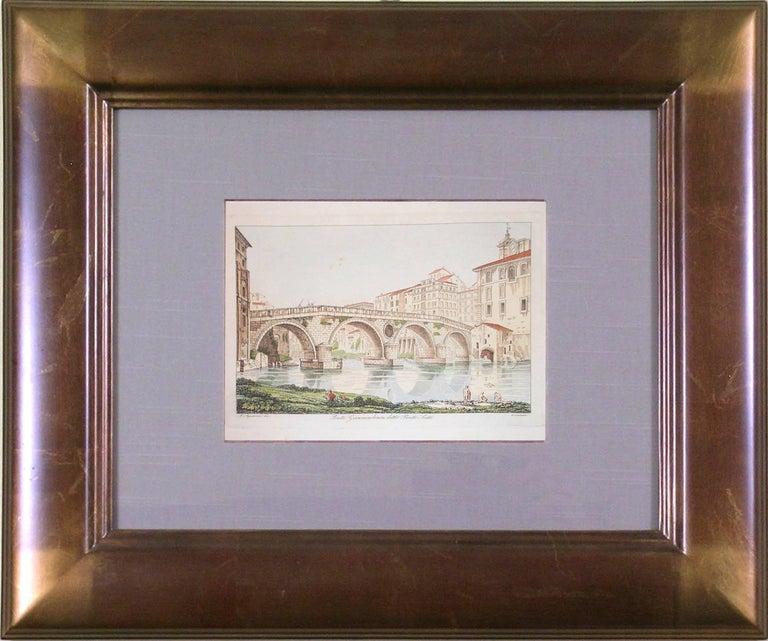 Ponte Gianniculense  (Italy) - Print by Antonio Aquaroni