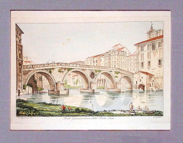 Ponte Gianniculense  (Italy) - Academic Print by Antonio Aquaroni