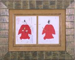 Red Men's Kimono Design