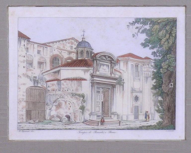 Tempio di Romolo, e Remo - Academic Print by Antonio Aquaroni