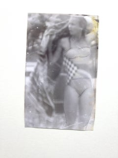 Original Vintage Print - Woman in Bikini - Unique Piece