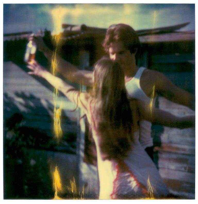 Whisky Dance I - Sidewinder - 8 pieces based on SX-70 Polaroids - Black Color Photograph by Stefanie Schneider