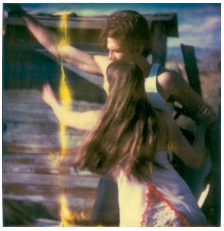 Whisky Dance I - Sidewinder - 8 pieces based on SX-70 Polaroids - Outsider Art Photograph by Stefanie Schneider