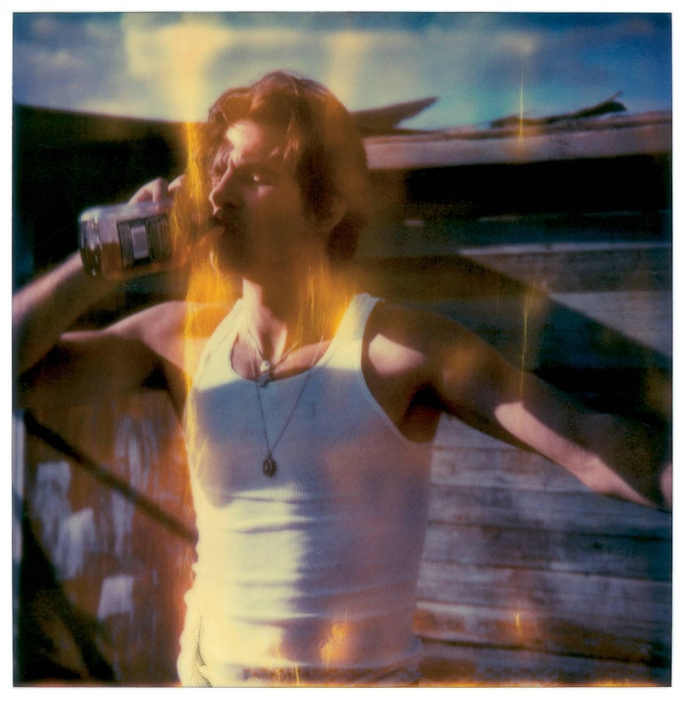 'Whisky Dance I' (Sidewinder) 2005, 20x20cm each, installed including gaps 50x90cm, 8 pieces, Edition 5/10,  digital C-Print, based on an expired Polaroid, Certificate and Signature label, artist Inventory Nr. 3175.13, not mounted  Stefanie