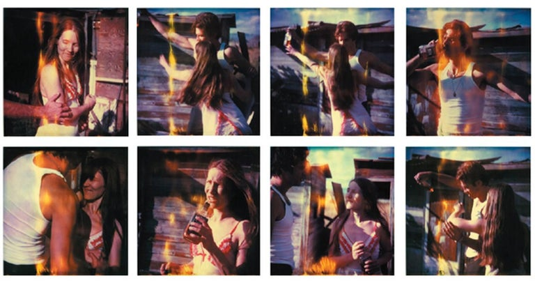 Stefanie Schneider Color Photograph - Whisky Dance I - Sidewinder - 8 pieces based on SX-70 Polaroids