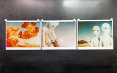Aliens, triptych, analog hand-prints