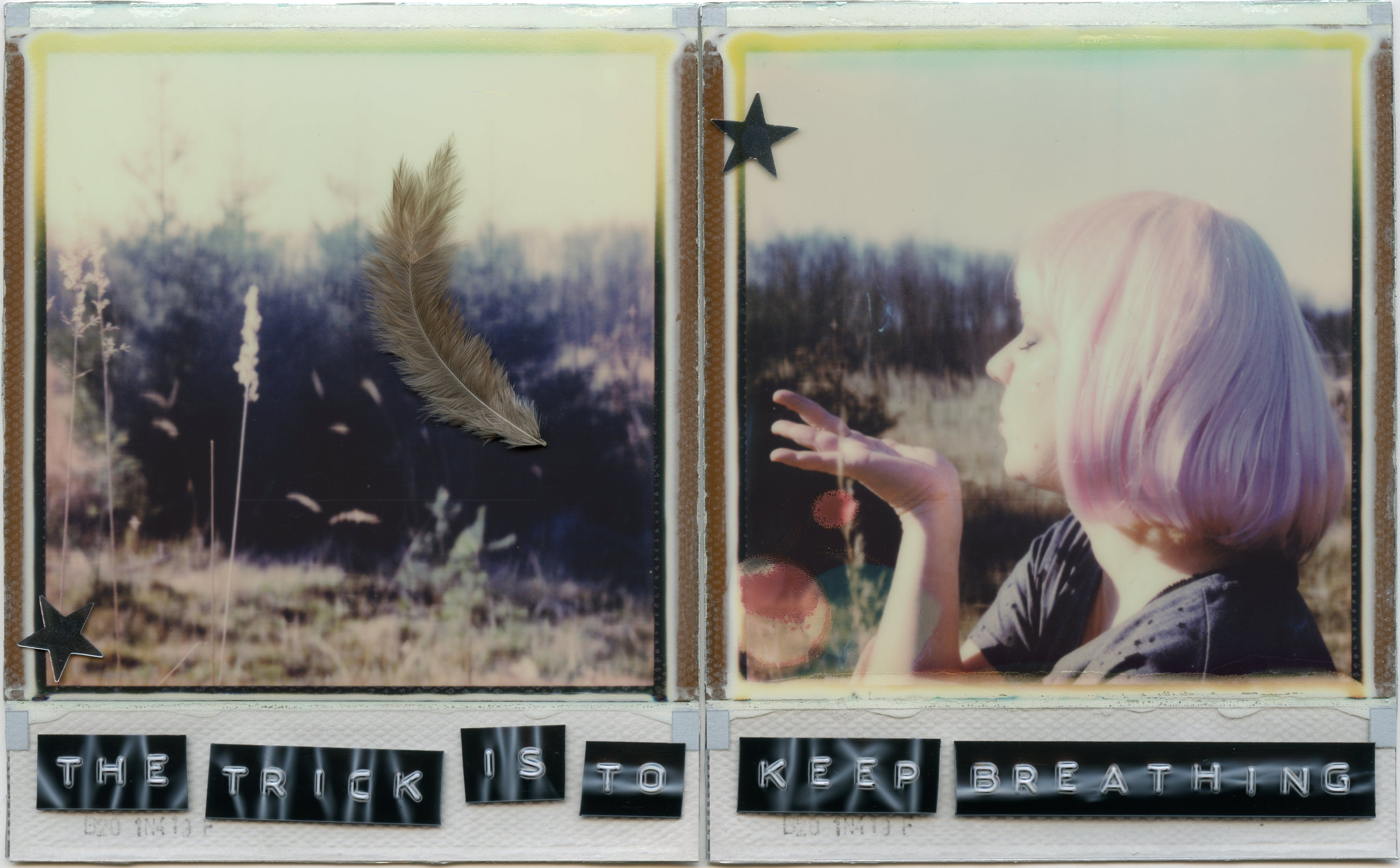 The Trick Is To Keep Breathing - based on 2 Polaroids