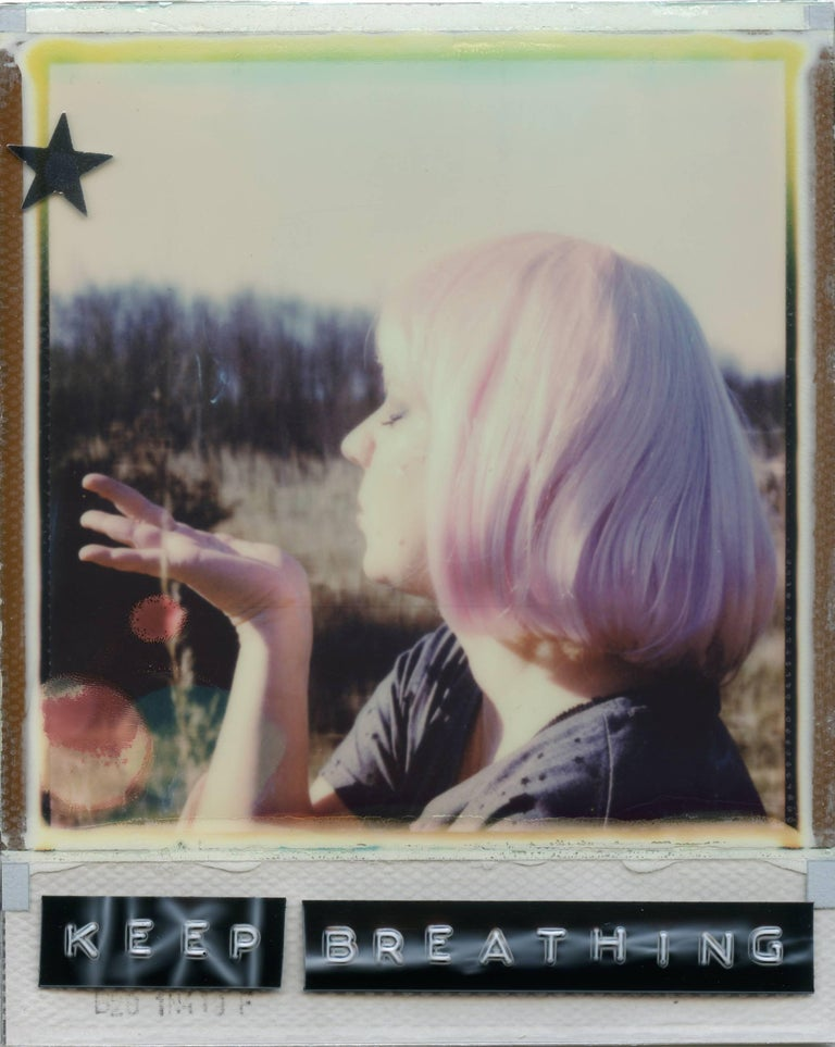 The Trick Is To Keep Breathing - based on 2 Polaroids - Photograph by Julia Beyer