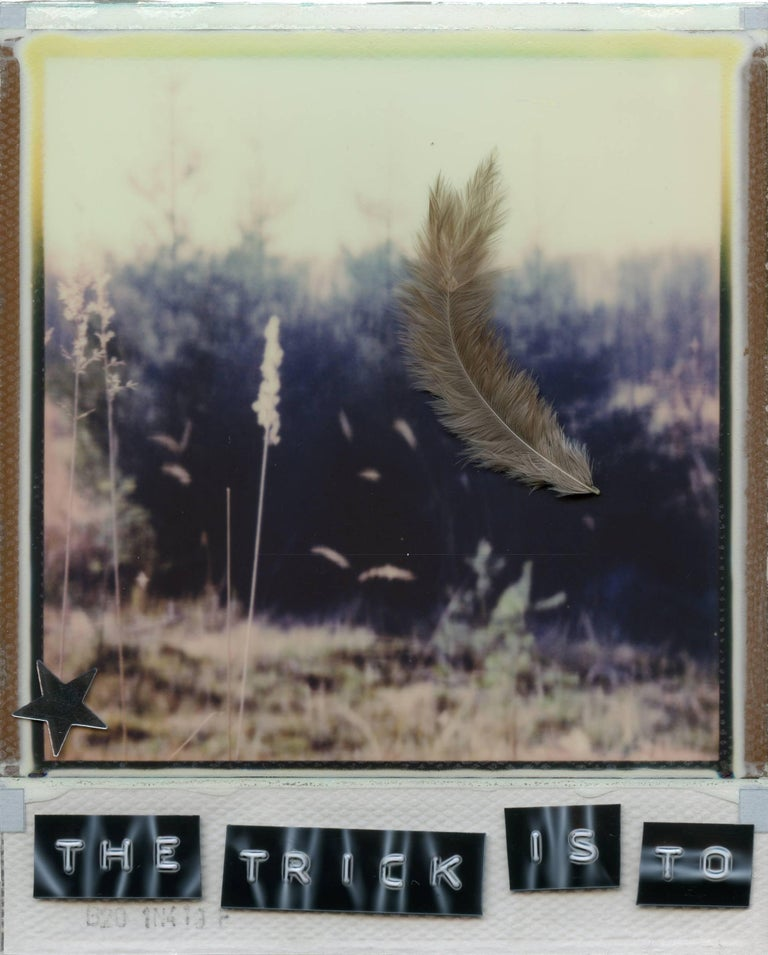 The Trick Is To Keep Breathing - based on 2 Polaroids - Contemporary Photograph by Julia Beyer