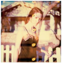 Girl at Fence III, Contemporary, 21st Century, Polaroid, Figurative Photography