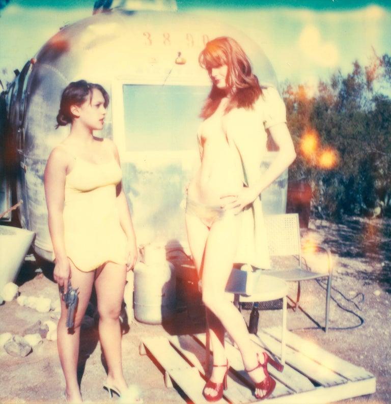 Daisy & Austin, Contemporary, 21st Century, Polaroid, Figurative Photography - Beige Color Photograph by Stefanie Schneider