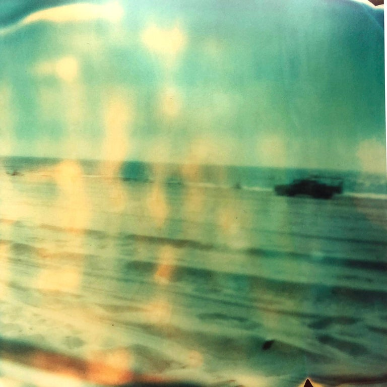 Contemporary, Landscape, Figurative, expired, Polaroid, analog, Schneider, - Gray Landscape Photograph by Stefanie Schneider