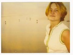 Contemporary, Woman, Landscape, Boat, beach, Polaroid, expired, Schneider, dream