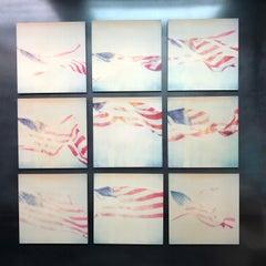 Contemporary, Abstract, Landscape, USA, Polaroid, Flag, Schneider, Instantdreams