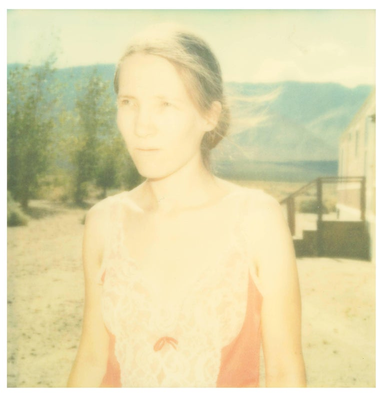 Owen's Valley (Last Picture Show), 20 x 20 cm, 2001 Edition 2/10, digital C-Print based on a Stefanie Schneider expired Polaroid photograph,  Artist Inventory 1088.02, not mounted   Stefanie Schneider's scintillating situations take place in the