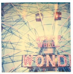 Wonder Wheel - Contemporary, Abstract, Landscape, Polaroid, expired, 21st