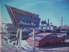Drive-In (Bombay Beach) 48x60cm, 21st Century, Polaroid, Landscape Photography
