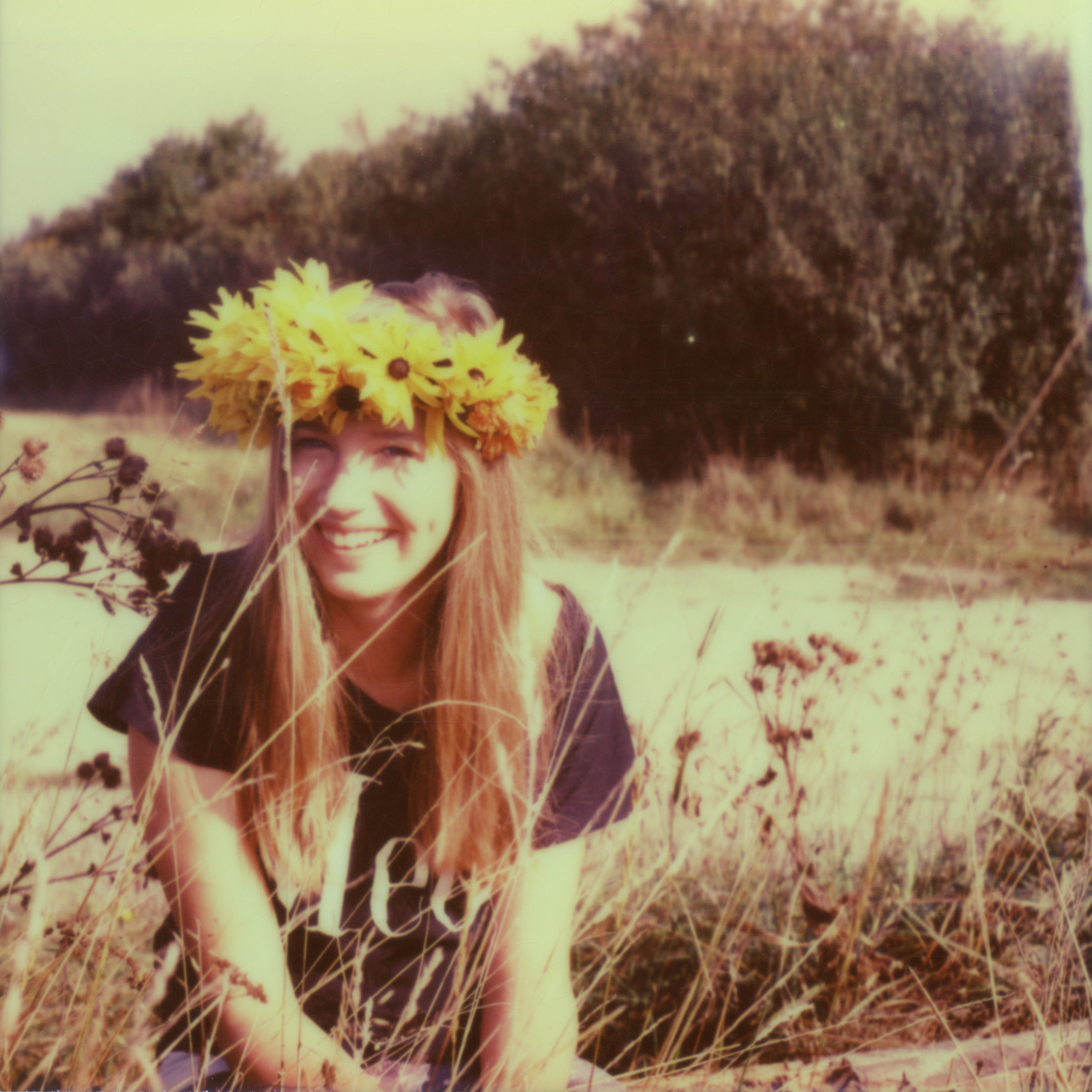 Invaded by Love - Contemporary, Figurative, Woman, Polaroid, Photograph