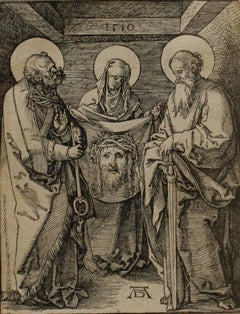 "Saint Veronica between Saints Peter and Paul, from the ""Small Passion"""