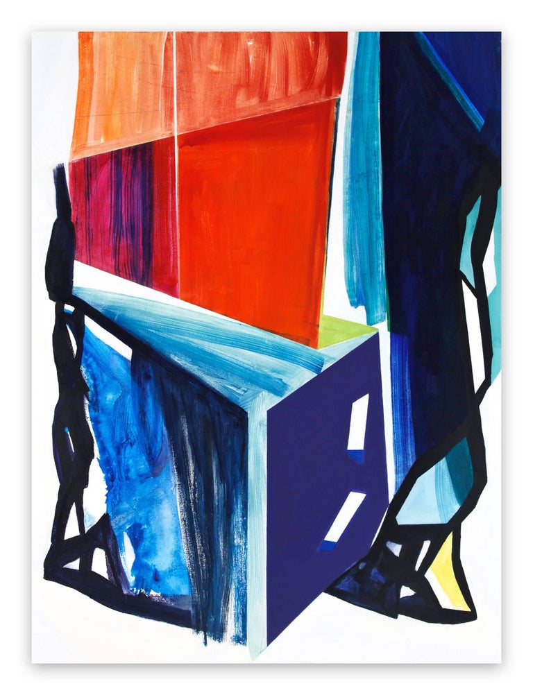 Laura Newman Abstract Painting - Still Life (Abstract Expressionism painting)