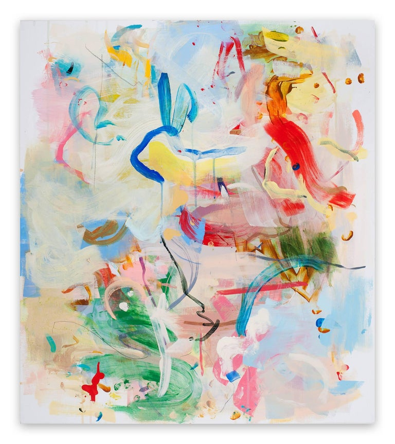 Gina Werfel Abstract Painting - Hieroglyph (Abstract Expressionism painting)