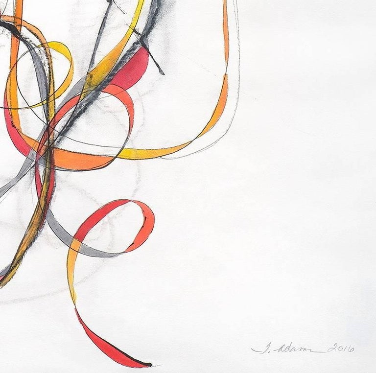 Balancing Act 3 - Abstract Expressionist Painting by Tracey Adams