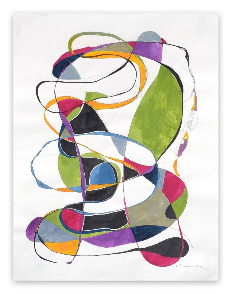 Tracey Adams Abstract Painting - Balancing act 2
