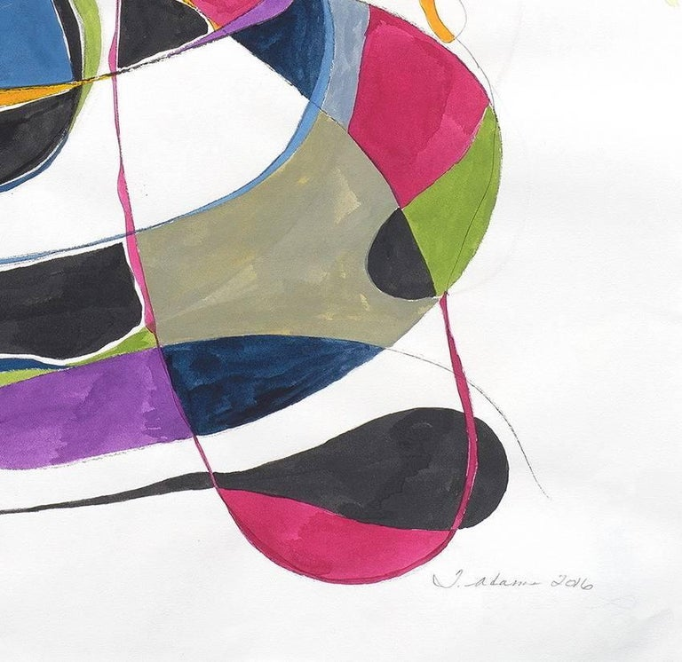 Balancing act 2 - Abstract Expressionist Painting by Tracey Adams