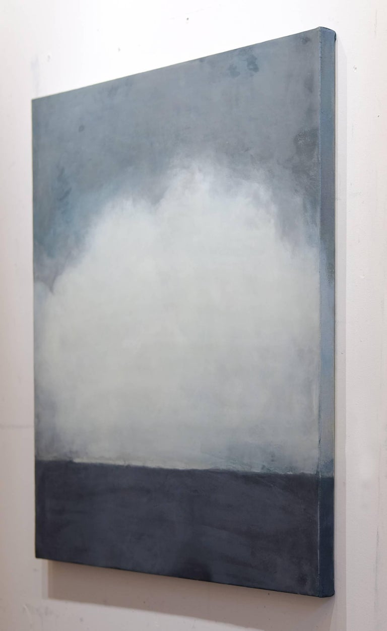 Wimereux - Gray Abstract Painting by Janise Yntema
