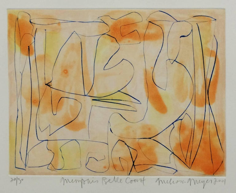 Memphis belle court - Abstract Expressionist Print by Melissa Meyer