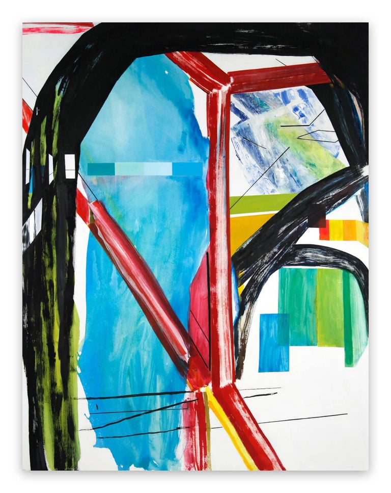 Laura Newman Abstract Painting - Interior with Paint Chips (Abstract Expressionism painting)