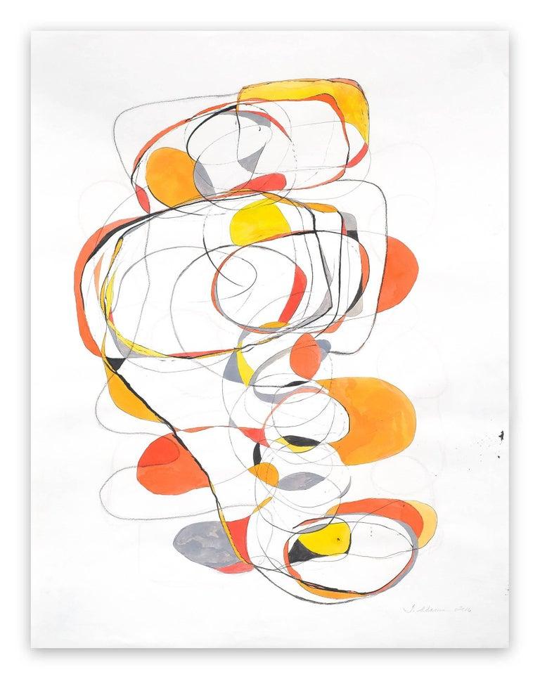 Tracey Adams Abstract Painting - Balancing act 4