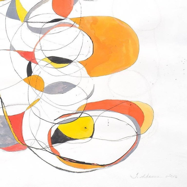 Balancing act 4 - Abstract Expressionist Painting by Tracey Adams