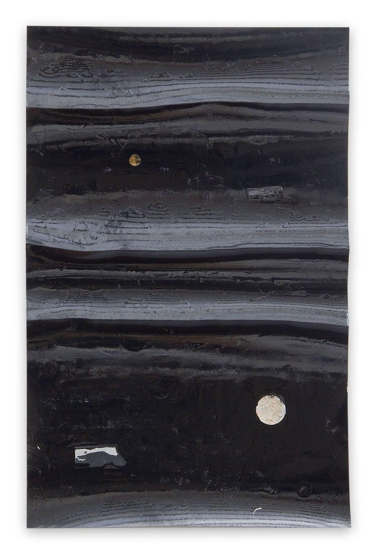 Harald Kroner  Abstract Painting - Black River 26