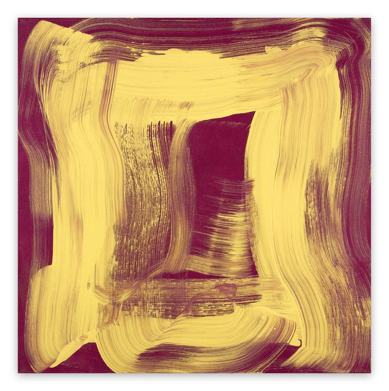 Anne Russinof Abstract Painting - Yellow Sheen