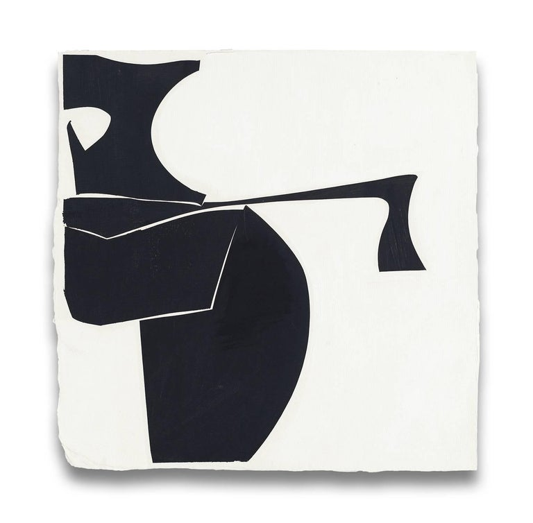 Joanne Freeman Abstract Painting - Covers 13-black B