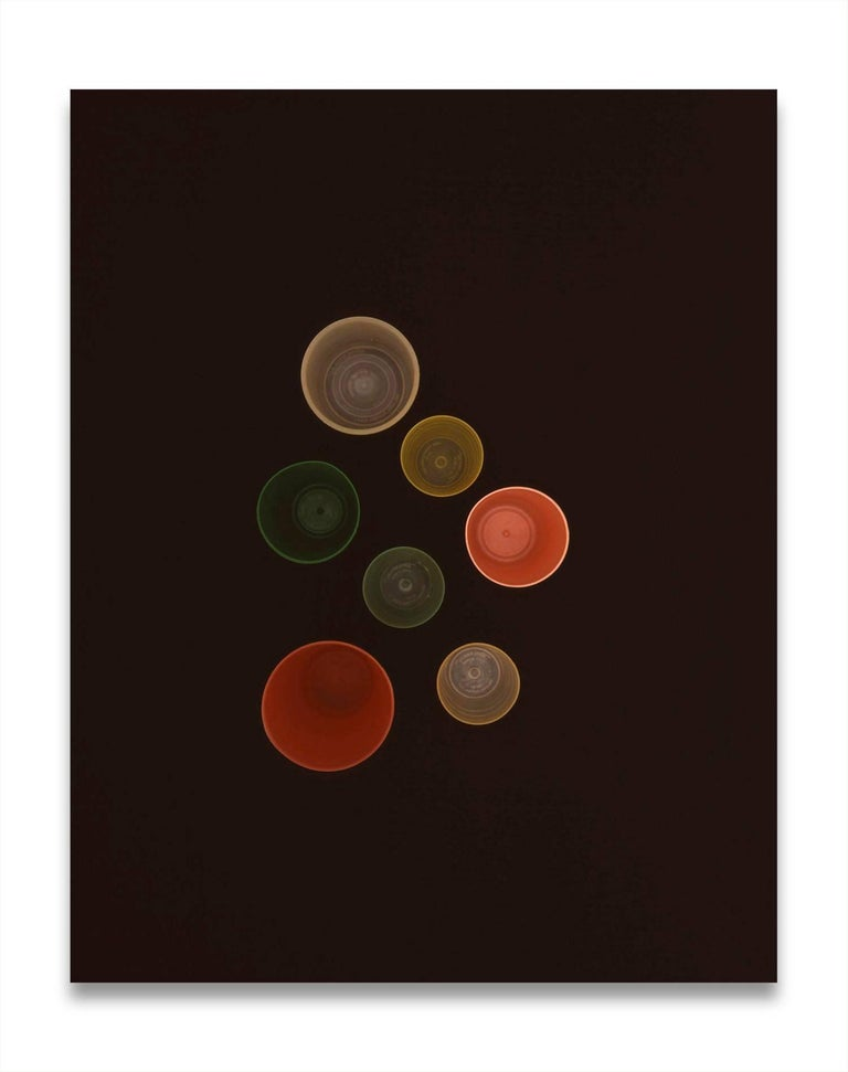 """C print. Unframed.  Richard Caldicott is most well known for this earlier work series which used Tupperware containers as the subject for his photographs.  As he describes: """"Tupperware works used two colour transparencies (overlapping colour), a"""