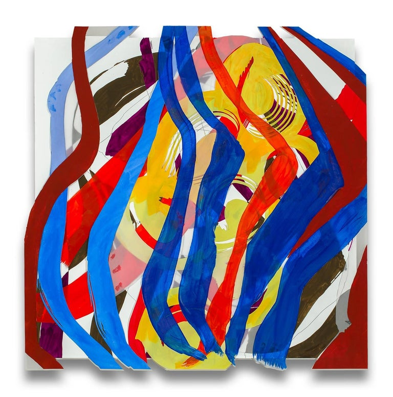 Ellen Priest Abstract Drawing - Jazz Cubano 23: Arturo and Elio, Thinking Out Loud