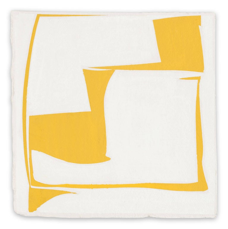 Joanne Freeman Abstract Painting - Covers 13-Yellow