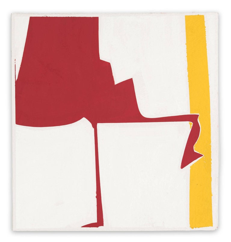 Joanne Freeman Abstract Painting - Covers 13-Red Yellow
