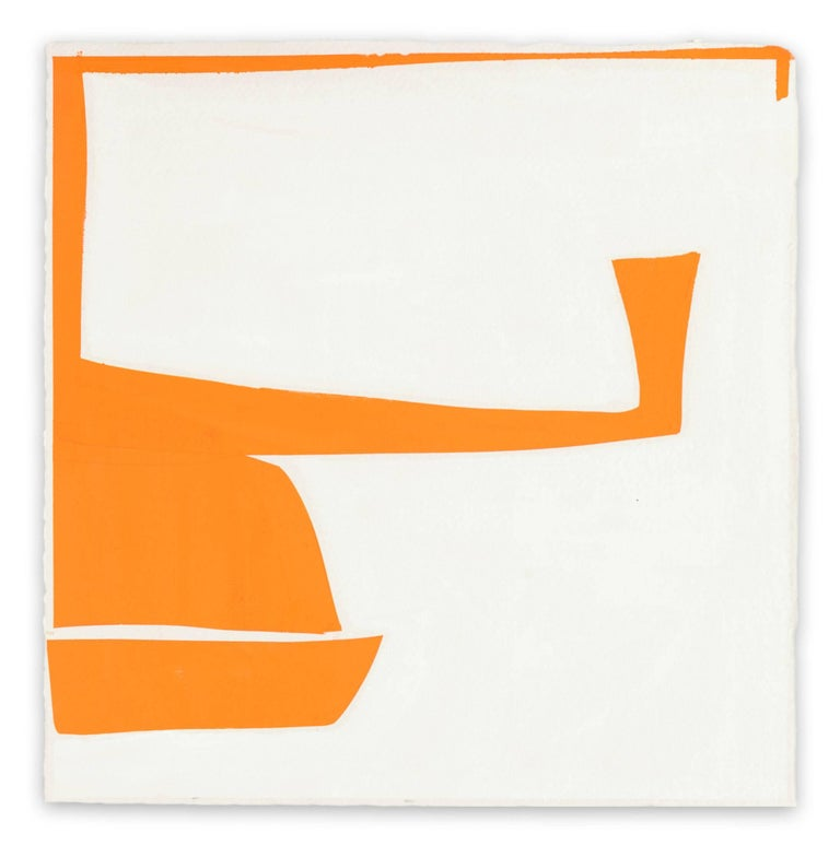 Joanne Freeman Abstract Painting - Covers 13-Orange A