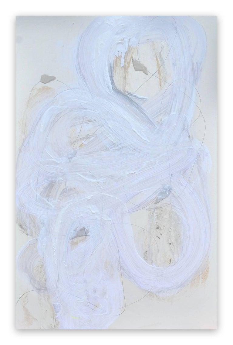Brenda Zappitell Abstract Painting - White series 11