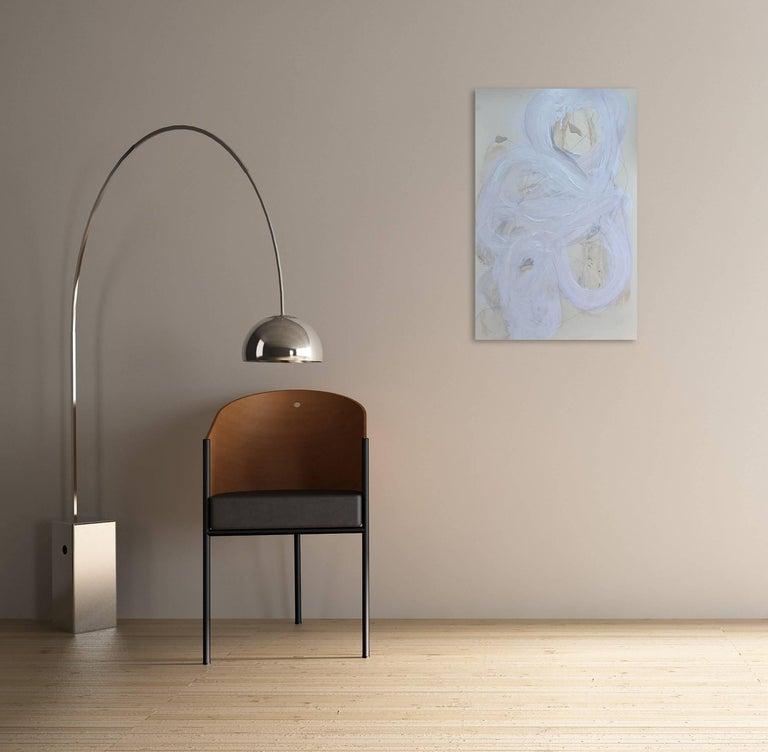 White series 11 - Painting by Brenda Zappitell