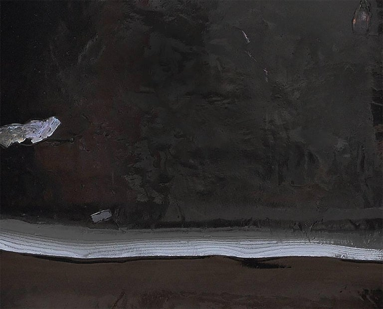 Black River 11 - Abstract Painting by Harald Kroner