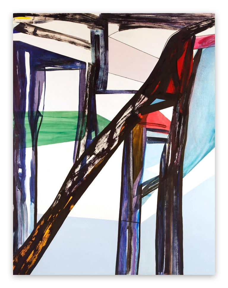 Laura Newman Abstract Painting - Beach House (Abstract Expressionism painting)